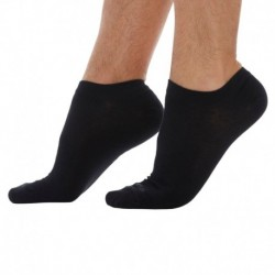 3-Pack Plain Bobby Socks - Black