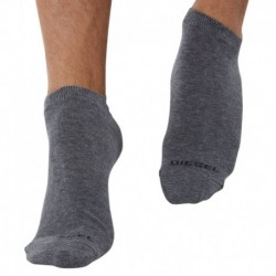 3-Pack Plain Bobby Socks - Grey
