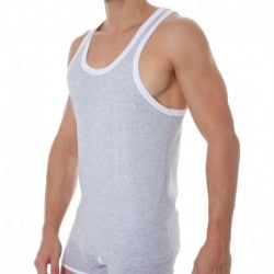 178 Cotton Tank Top - Heather Grey