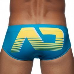 AD Digital Swim Brief - Royal - Yellow