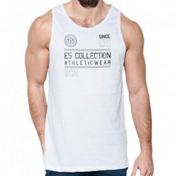 ES Collection Athletic Tank Top - White