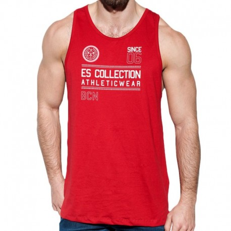 ES Collection Athletic Tank Top - Red