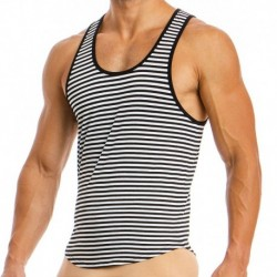 Modus Vivendi Animal Tank Top - Black - White Stripes