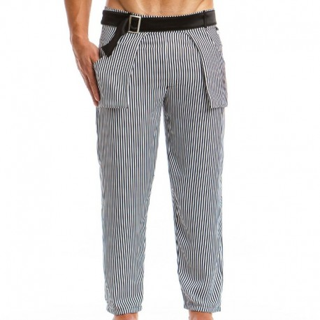 Modus Vivendi Animal Pants - Black - White Stripes