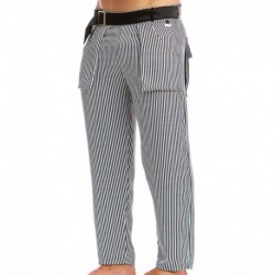 Animal Pants - Black - White Stripes