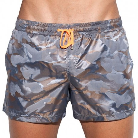 ES Collection Short de Bain Elliot Camo Marron