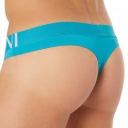 Sailor Stripe Micro Thong - Turquoise
