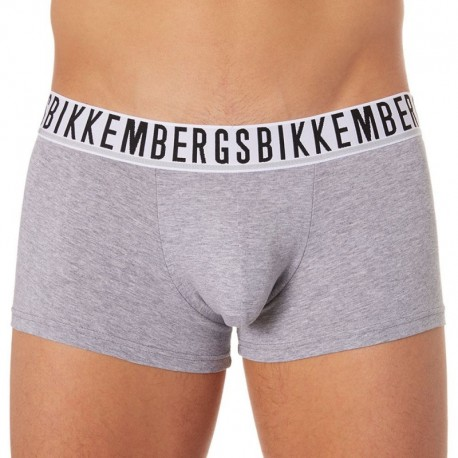 Bikkembergs 2-Pack Stretch Cotton Boxers - Grey