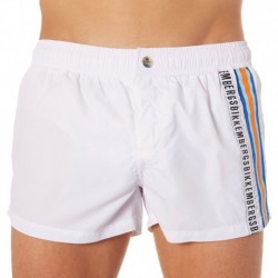 Tape Swim Short - White