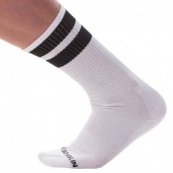 Gym Socks - White - Black