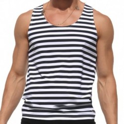 Break Tank Top - White - Black