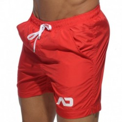Long Basic Swim Short - Red