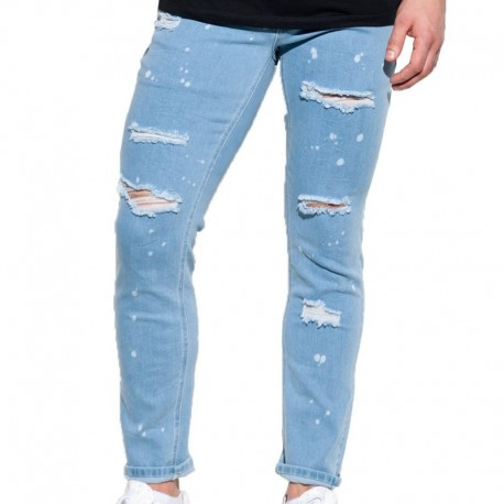 ES Collection Ripped Jean Pants - Indigo