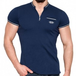 T-Shirt Mao Lurex Marine