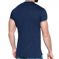 Lurex Mao T-Shirt - Navy