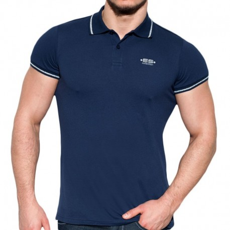 ES Collection Polo Lurex Marine