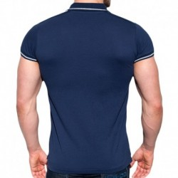 Lurex Polo - Navy