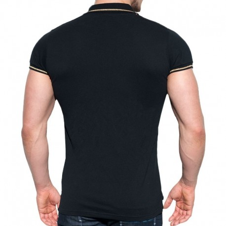ES Collection Lurex Polo - Black
