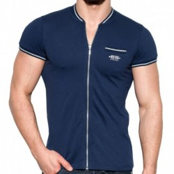 ES Collection Veste Mao Zipper Lurex Marine