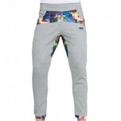Palm Glitch Pants - Grey - Blue