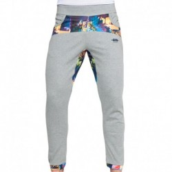 ES Collection Pantalon Palm Glitch Gris - Bleu