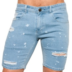 ES Collection Bermuda en Jeans Ripped Indigo