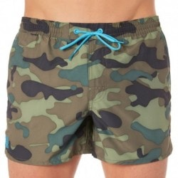 Rosco Camouflage Swim Short - Green