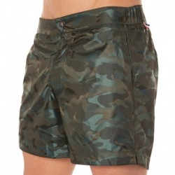 Kris Swim Short - Green Camouflage