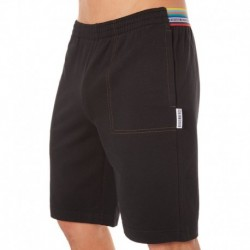 Multicolor Rainbow Bermuda - Black