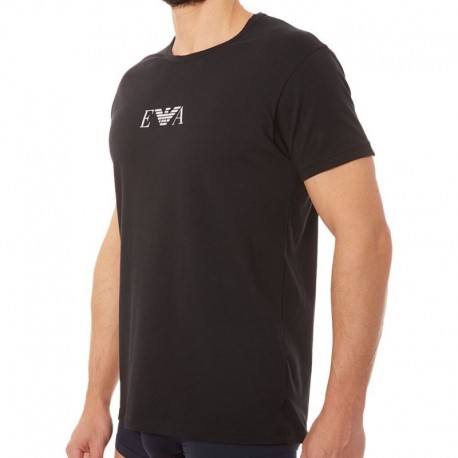 Emporio Armani 2-Pack Cotton Stretch T-Shirts - Black