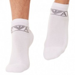 2-Pack Sponge Cotton Bobby Socks - White