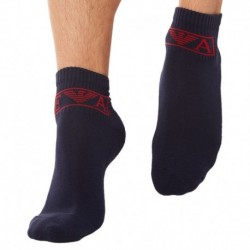 2-Pack Sponge Cotton Bobby Socks - Navy