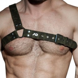 AD Fetish Gladiator Camo Harness - Khaki