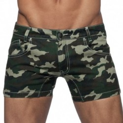 Addicted Short Twill Camouflage Kaki