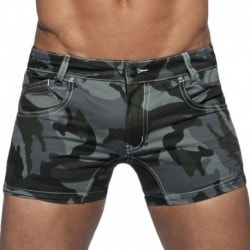 Addicted Camouflage Twill Short - Grey