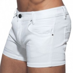 Addicted Twill Short - White