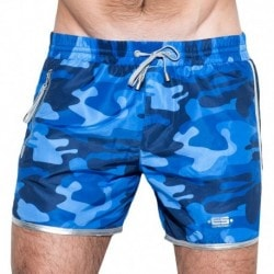 ES Collection Marvin Camo Swim Short - Navy Camouflage