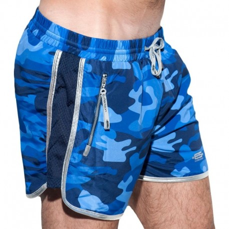 ES Collection Short de Bain Marvin Camouflage Marine