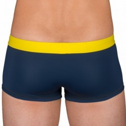 Swim Boxer - Navy - Yellow
