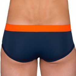 Garçon Français Swim Brief - Navy - Orange