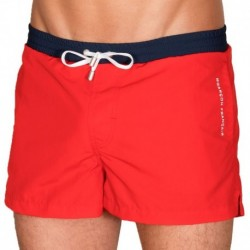 Garçon Français Swim Short - Red - Navy
