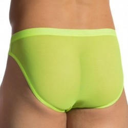 RED 1762 Brazil Brief - Neon Green