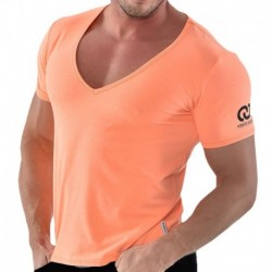 V-Neck T-Shirt - Orange