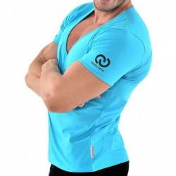 Roberto Lucca V-Neck T-Shirt - Turquoise