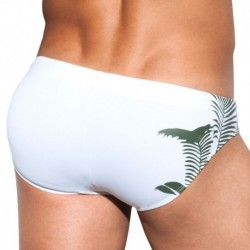Slip de Bain Waldo Jungle Blanc