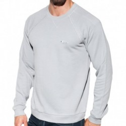 Sweat-Shirt Cotton Knit Argent