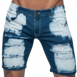 Addicted Holes Jeans Bermuda - Navy
