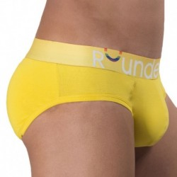 Rounderbum Pride Padded Brief - Yellow