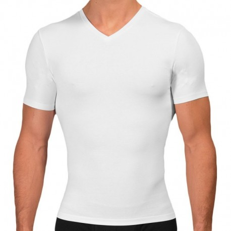 Rounderbum Cotton Compression T-Shirt - White