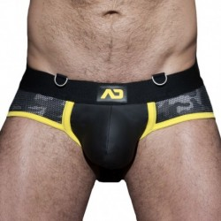 AD Fetish Camo Mesh Brief - Black - Yellow